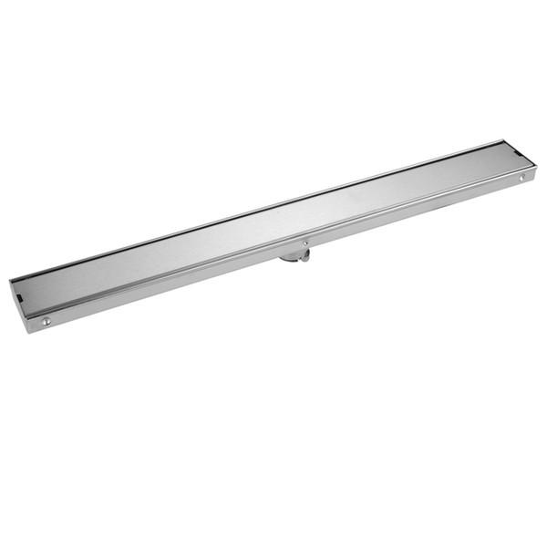best selling 2019 Modern New Style 60cm Floor Drain 304 Stainless Steel Brushed Insert Tile Waste Strainer for bathroom   balcony
