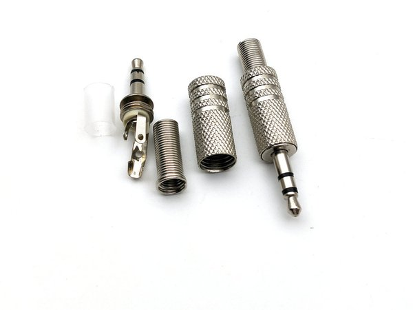 1000 unids METAL estéreo macho 3.5 mm Jack Plug Audio conector de auriculares auriculares
