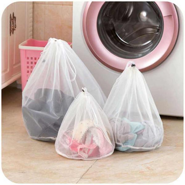 Lavado de nylon Bolsa de lavandería plegable portátil de lavado de la ropa interior de la máquina profesional bolsa de lavandería malla lavado de Bolsas Bolsas ZZA1734-4