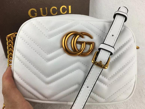 aebefaec981b5 GUCCI 2019 mulheres desiGner bolsas Brancas famosa marca saco cadeia  gradiente rampa saco crossbody mensageiro sacos