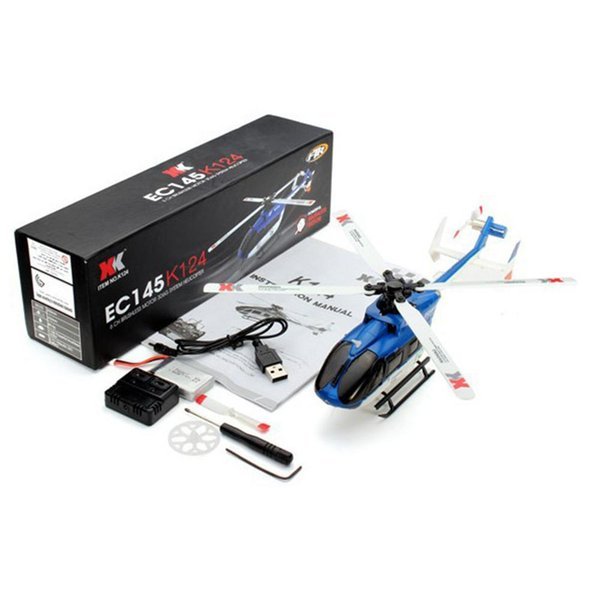 RC Helicoper XK K124 BNF RTF 6CH Brushless Motor 3D Helicopter System Compatible with FUTABA S-FHSS Remote Control Plane Toys