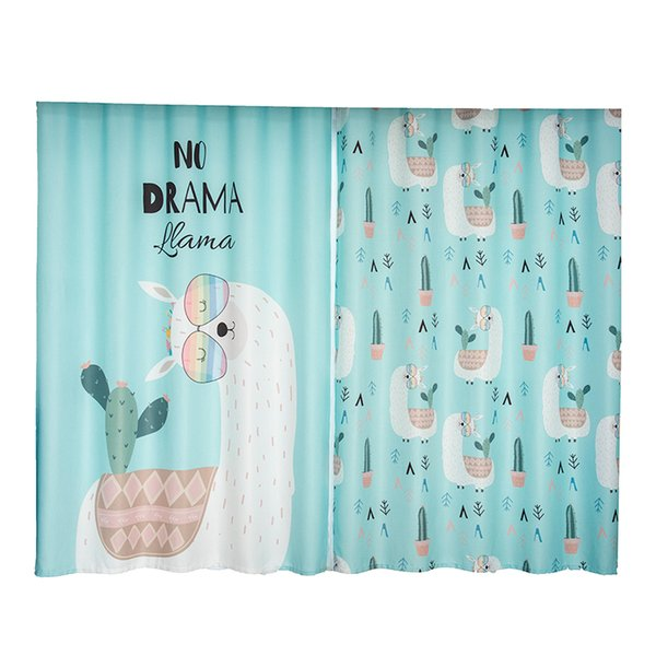 2x Window Drapery Nursery Kids Children Room Curtain Window Dressing Tulle Covering Pull Pleated Grommet Hook Alpaca Tiffany