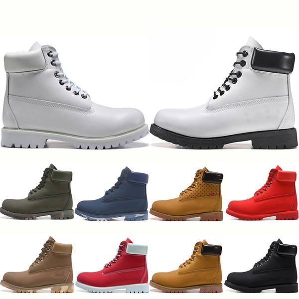 Venda quente homens mulheres botas de inverno tornozelo joelho botas top novas mulheres triplos branco preto trigo vermelho tamanho bota de neve Eur 36-45