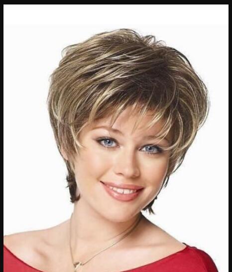 Perruque LL HOT vendre Livraison gratuite cosplay courte perruque Blonde foncée mixte femmes