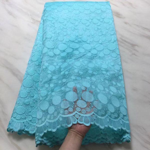 2018 de alta calidad de encaje francés tela de terciopelo africano lentejuelas Royal Blue Lace Applique nigeriano telas de encaje para la boda