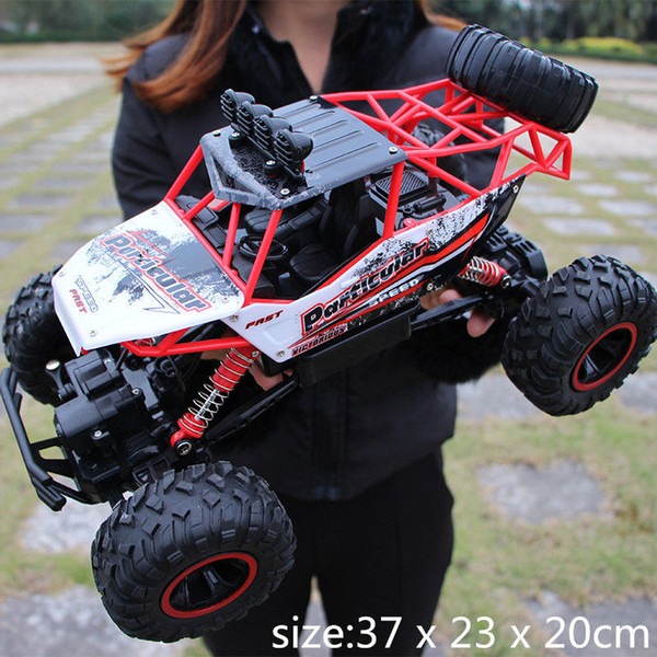 top popular 28cm RC 1 16 4WD 4x4 Driving Double Motors Drive Bigfoot Remote Control Car Model Off-Road Vehicle Toy Y200413 2020