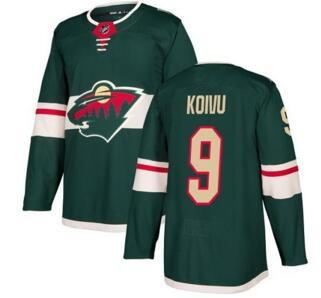 Minnesota Wild #9 Mikko Koivu Green Home Stitched Jersey,Discount Outdoors Hockey Jersey from yakuda online store for sale