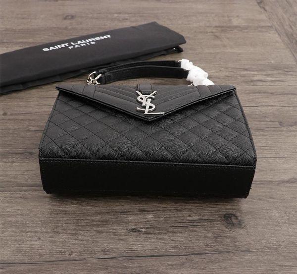 Brand Fashion Handbags Black Lattice Caviar Cowhide Chain Bag Genuine Leather Crossbody Bag Totes Bags Handbags Purses Woman Gh-9
