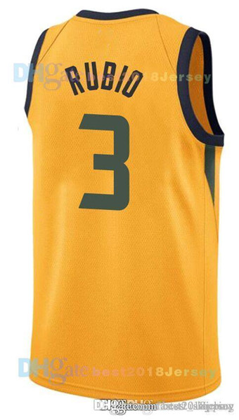 new style 3f457 53196 2019 2019 Utah 45 Donovan Mitchell 3 Ricky Rubio Jazzs JERSEY 27 Rudy  Gobert 2 Joe Ingles 12 John Stockton 32 Karl Malone Basketball Jerseys T  From ...
