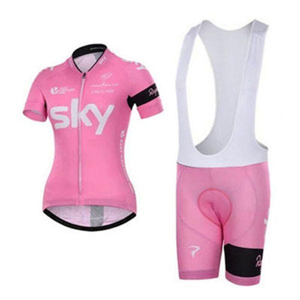 Vélo En Plein Air Costume Dames Racing Vélo De Montagne Vélo Jersey À Séchage Rapide Respirant À Manches Courtes Zipper Vélo Vélo Vêtements 05