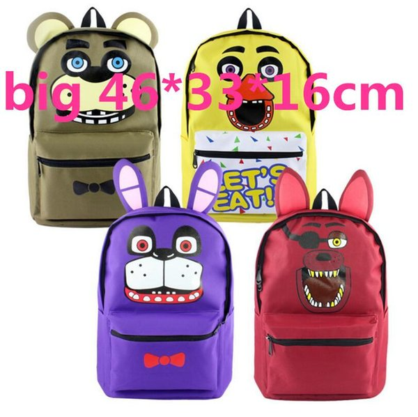 top popular Hot 46cm Five Nights at Freddys Backpack Boys Girls Children For Teenagers Kids Bag Gift Mochila Daily Backpack 2020