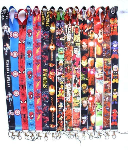 10 teile / los Marvel Avengers Infinity War lanyard ID abzeichen kartenhalter schlüsselanhänger halsbänder für handy Cosplay zubehör