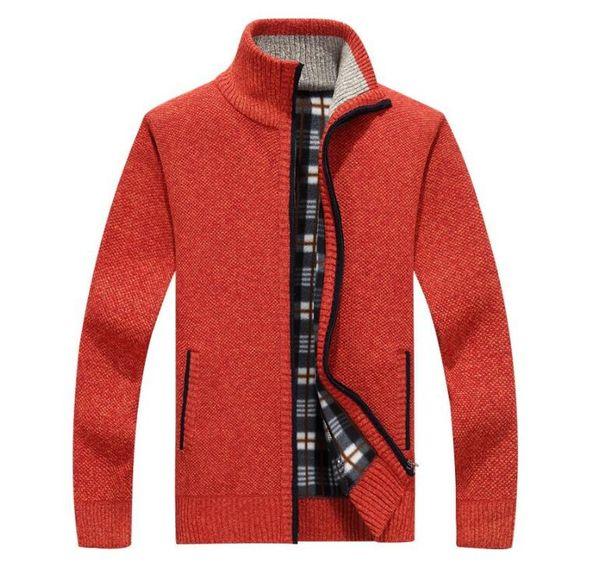 2019 new Spring Autumn Men's SweaterCoat long sleeve Faux Fur Wool Sweater Jackets Men Zipper Knitted Thick Coat Casual Knitwear men top tee