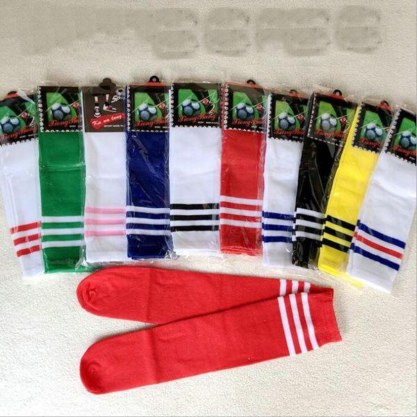 White Set of 2 Color Stripes Soccer//Basketball Athletic Socks for Unisex Child