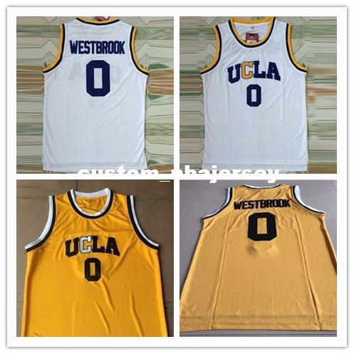 Cheap custom Westbrook #0 UCLA Bruins Stitched Basketball Jersey White Stitch customize any number name MEN WOMEN YOUTH XS-5XL