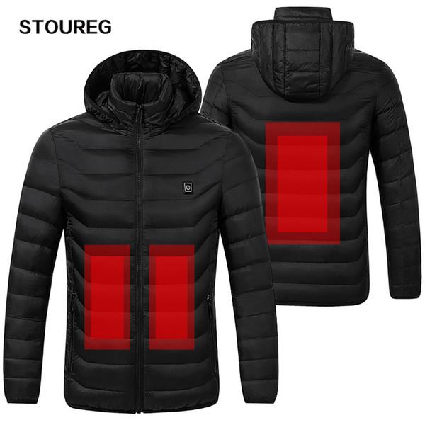 Waterproof Heated Jackets Windproof Warm Fleece Jeakets Unisex Winter Hiking Jackets For Men Women Skiing Clothes S-3XL