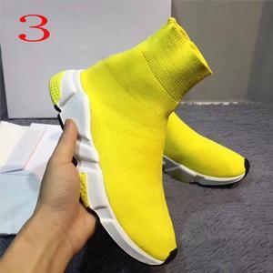 2019 Socks shoes High Quality Unisex Casual Shoes Flat Fashion Socks Woman New Slip-on Elastic Cloth Speed Trainer Runner Man Shoes 19SS