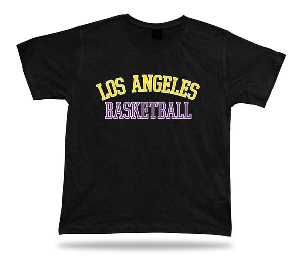 Los Angeles États-Unis BASKETBALL t-shirt tee-shirt rouge bleu blanc échauffement côté cour style 100% coton drôle