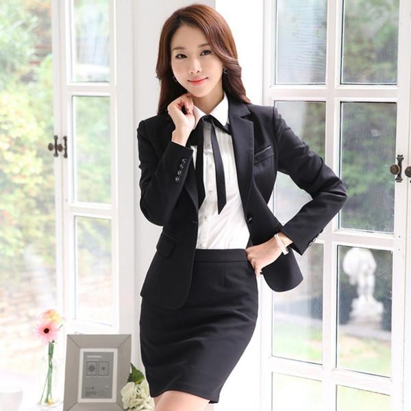 falda chaqueta negro