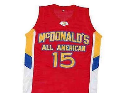 #15 KEMBA WALKER McDOLNALD ALL AMERICAN Retro Top stitched Sewn basketball jerseys Customize any number and name XS-6XL vest Jerseys