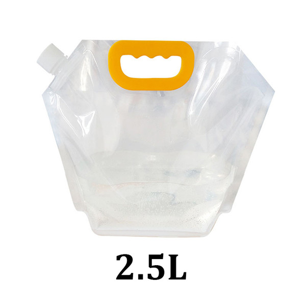 2.5L clear plastic food grade packaging 2500ml stand up handle spout pouch bags for liquid detergent