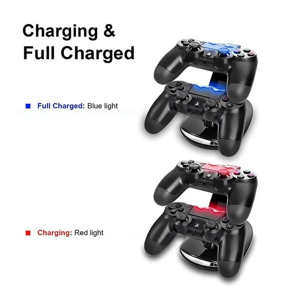 Wholesale-LED Dual Charger Dock Mount USB Charging Stand For PlayStation 4 PS4 Xbox One Gaming Wireless Controllers With Retail Box