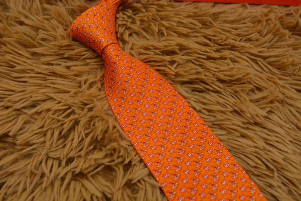 Uomini di alta qualità L'ultima alta densità Italia piccola camicia animali cravatta cravatta 8 cm cravatta magro marca 2019 6 stile moda con scatola