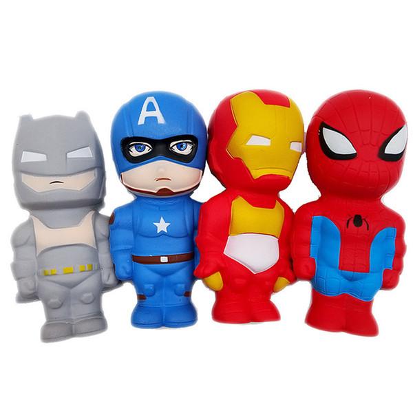 Super Hero Squishy Langsam steigende Iron Man Spiderman Squishies Spielzeug Simulation Antistress Lustige Gadgets Spielzeug Für Kinder