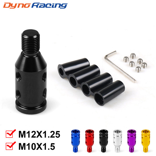 best selling Universal Car Manual Gear Shift Knob Adapter For M10x1.5 M12x1.25 Thread Aluminum Alloy