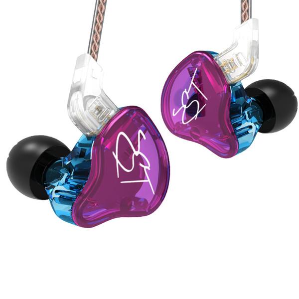 KZ ZST Híbrido Cableado 2 cables Armadura Dinámica Auriculares HI-FI con graves pesados y auriculares con aislamiento de ruido Gancho para la oreja Auriculares bajos Nuevo