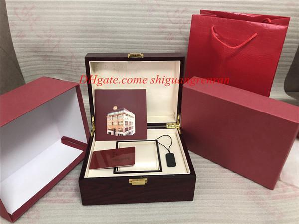 Di alta qualità PP Watch Box Caso Uomini di lusso Aquanaut Papers Card Scatole di legno rosso grande per Nautilus 5167 5711 5712 5740 5726 5980 Spedizione gratuita