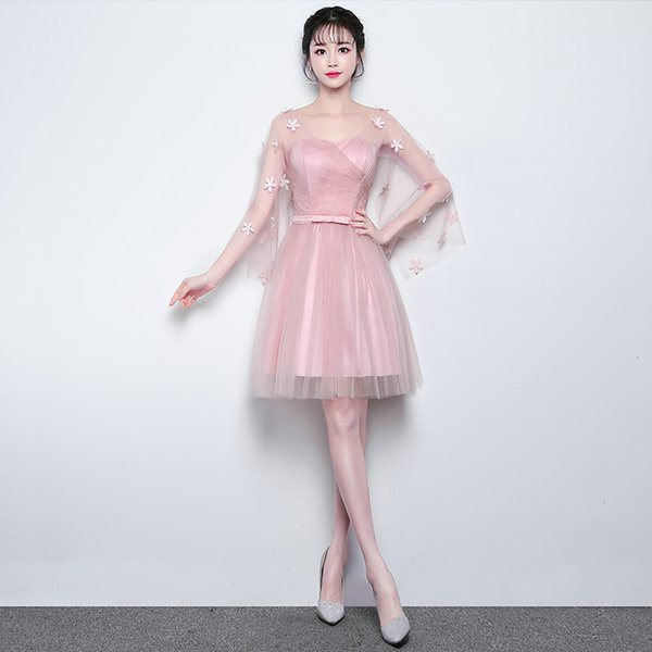 In Stock Floor-length Appliques Cheap Bridesmaid Dresses for Women Weddings Party Girls Prom Cocktail Mesh Tulle Evening Dresses Plus Size