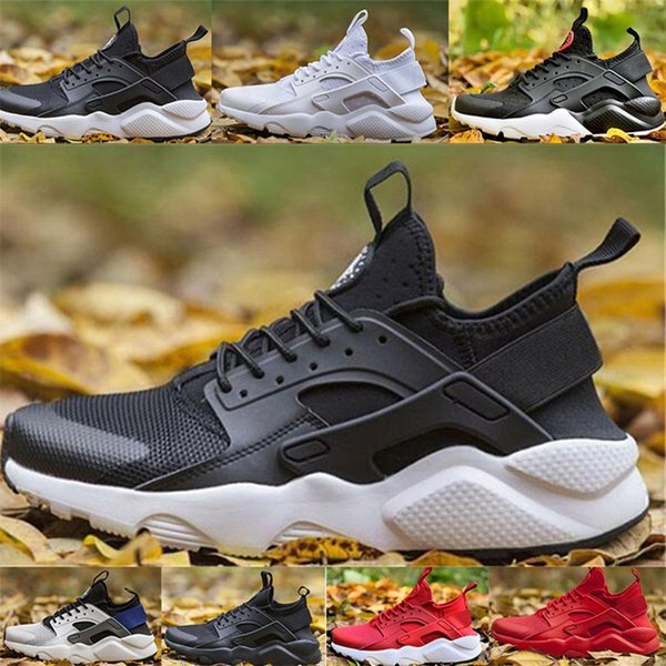 2020 High Quality huarache 4 running Shoes For Men Women Black white red Grey Sneakers Huaraches Jogging Sports Shoes