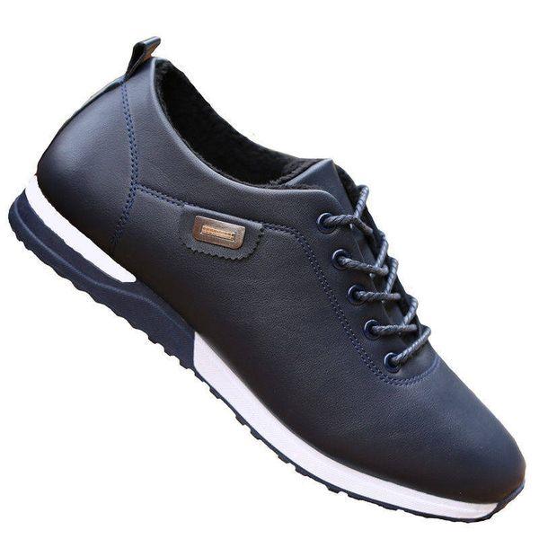 Men Shoes Brand Casual Oxford Shoes Waterproof Leather Short plush Sneakers Men Flats zapatos de hombre Fashion Mens