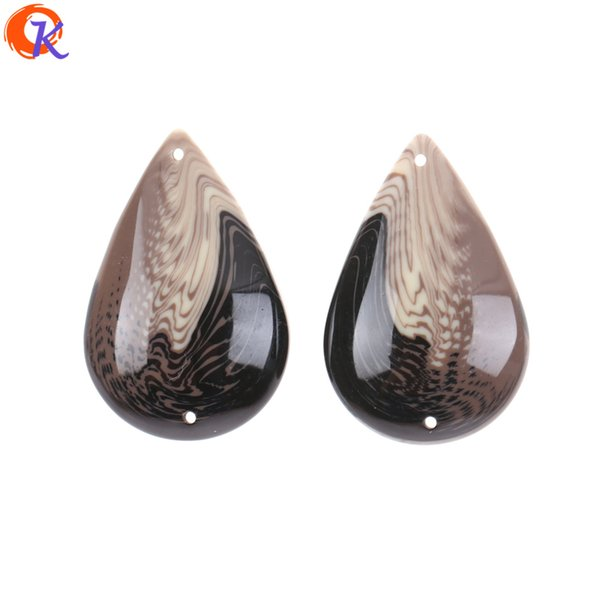 wholesale 22*34MM 50Pcs Resin Beads/Jewelry Accessories/Hand Made/Marble Effect Bead/Drop Shape/DIY/Earring Findings