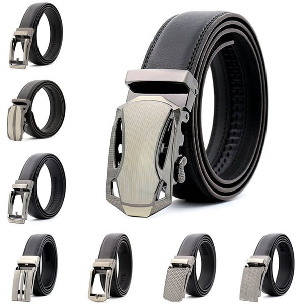 Luxury Cowskin Belts Automatic Buckle Business Waistbands Jeans Cow Waist Straps Europe Style Men Women Fashion Hip Hop Belts
