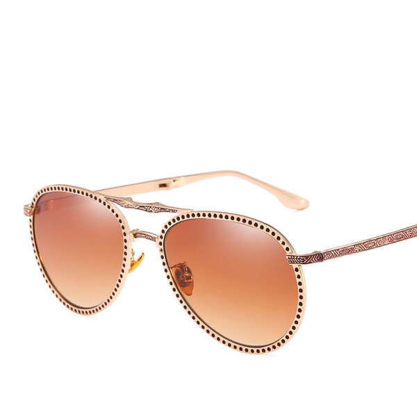 Retro Luxury Sunglasses Good Quality Metal Full Frame Men Women Glasses Fashion Uv Protection Eyewear Popular Oval Sunglasses