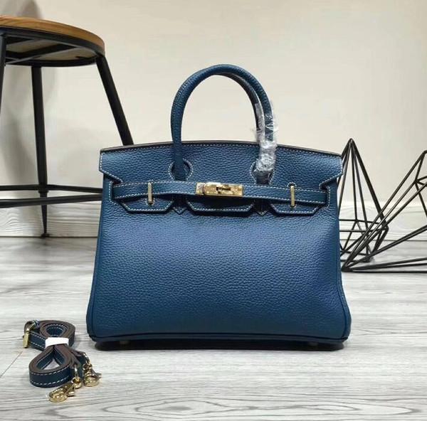 2018 Sıcak 35 CM 30 CM 25 CM Büyük Marka Tasarımcı Tote Omuz Çanta çanta Ile daha iyi Kilit donanım kadın Lady Gerçek Süper yumuşak Hakiki deri
