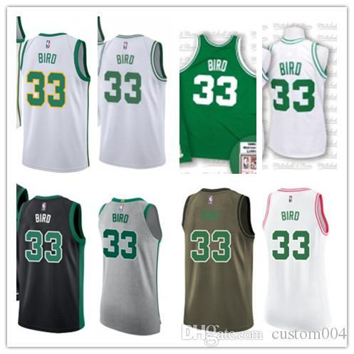 quality design 76c7d 9afa6 2019 Custom 2019 Boston Celtic Jerseys #33 Larry Bird Jerseys  Men#WOMEN#YOUTH#Men'S Baseball Jersey Majestic Basketball Jersey From ...