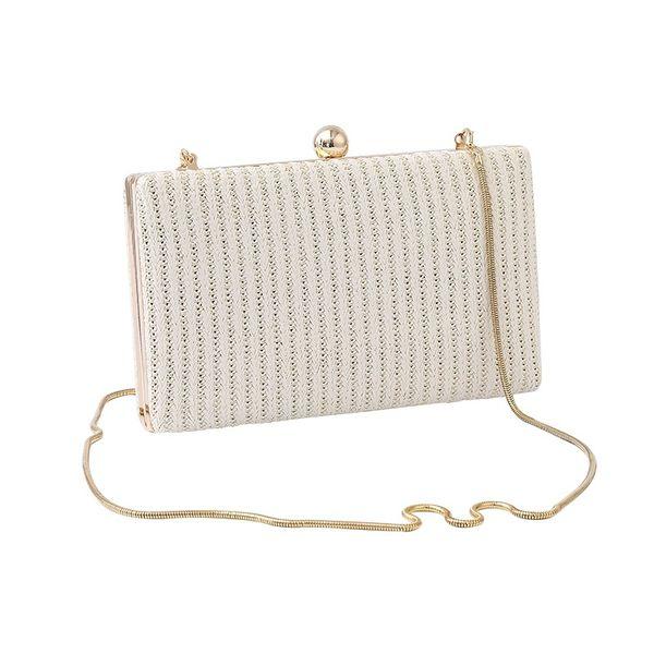 Women White Pocket Shoulder Open Pure Toiletry Bag Standard Wallet Ladies Vintage Evening Clutch Handbag