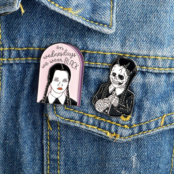 Adams Skeleton Punk Brooch Classic Cartoon icons Style Enamel pin Badge Buttons Brooch Anime Lovers Shirt Denim Jacket lapel pin