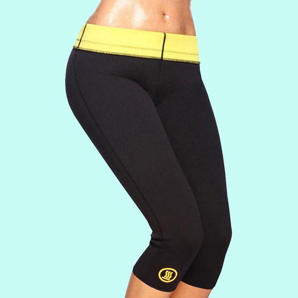 Hot selling control panties stretch neoprene slimming body shaper thermo shaper pants leg slimming sweat fat burning pants