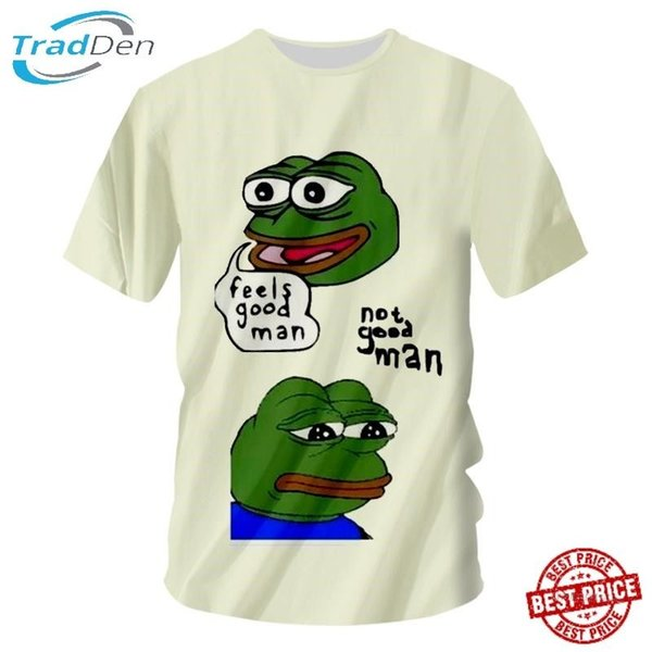 Новый 3D Мужчины Женщины Футболка Забавная Лягушка Зеленая Жаба Животных Полная Печать Повседневная Поездка 5XL Мужчины Женщины Мужская Мода футболка Бесплатная Доставка