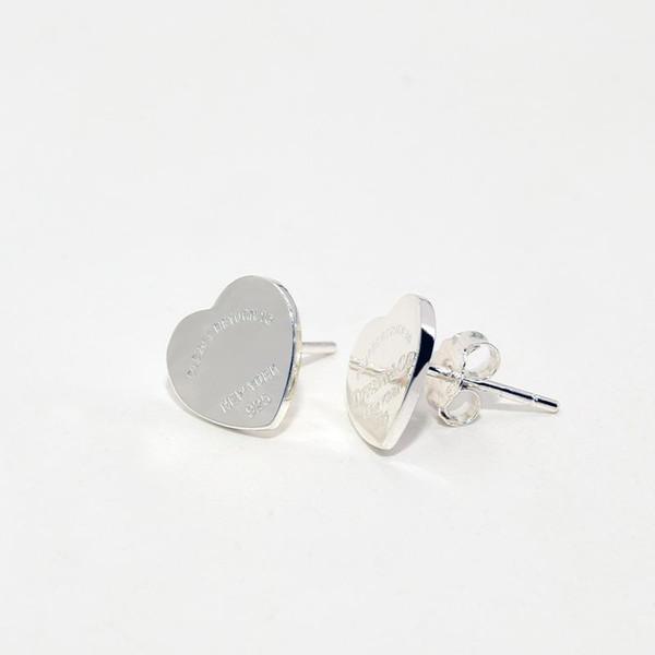 NUEVO Alta calidad 100% Real 925 Pendientes de plata esterlina Corazón Pendientes de regalo de boda de moda de lujo para mujer