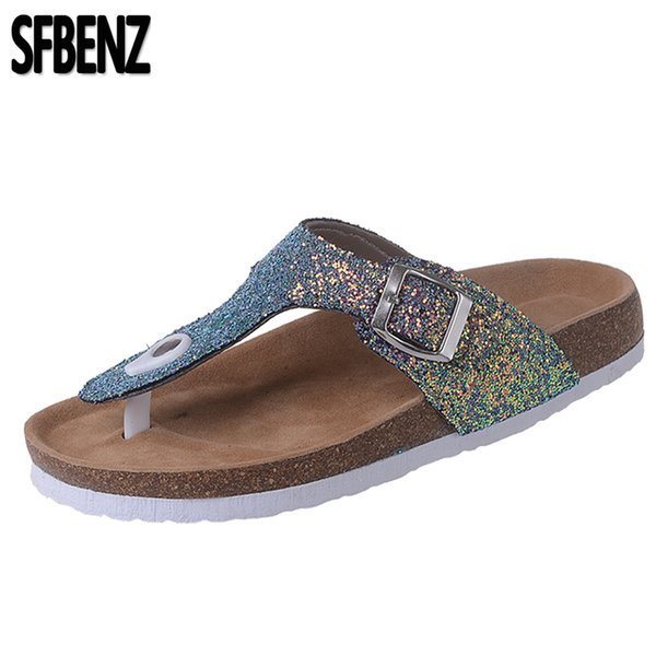Plus Size 30-44 New 2019 Woman Child Men Beach Summer Slippers Metal Shoes Ladies Gladiator Chaussure Femme Flip Flops Sandals