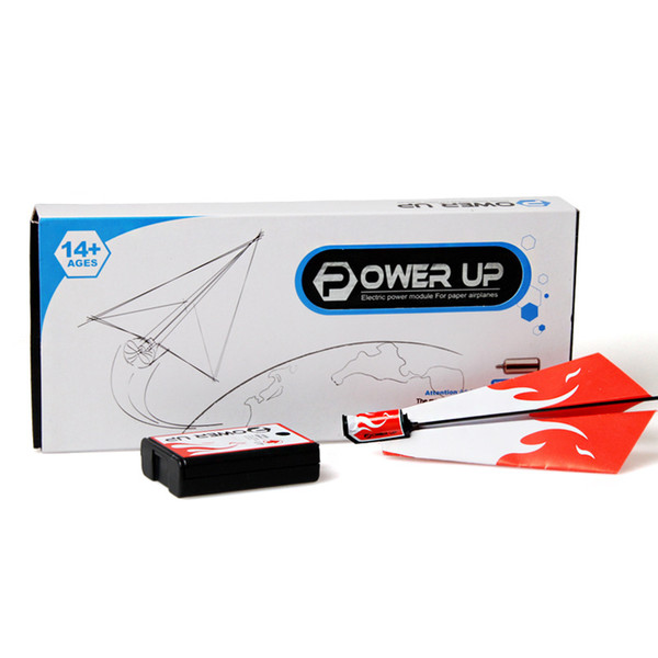[TOP] Classic childhood origami toy electric motor power up fold Fly Paper Airplanes Kit student experiment engine DIY plane