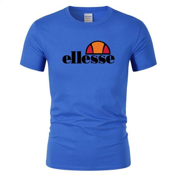 Diseñador de moda moda verano camiseta de verano camiseta de algodón monopatín hip hop calle camiseta deportes y ocio ropa ELLESSE caliente