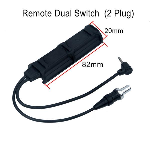 Night Evolution удаленный двойной переключатель (2 штекер) тактическое давление Pad переключатель фонарик аксессуар PEQ свет