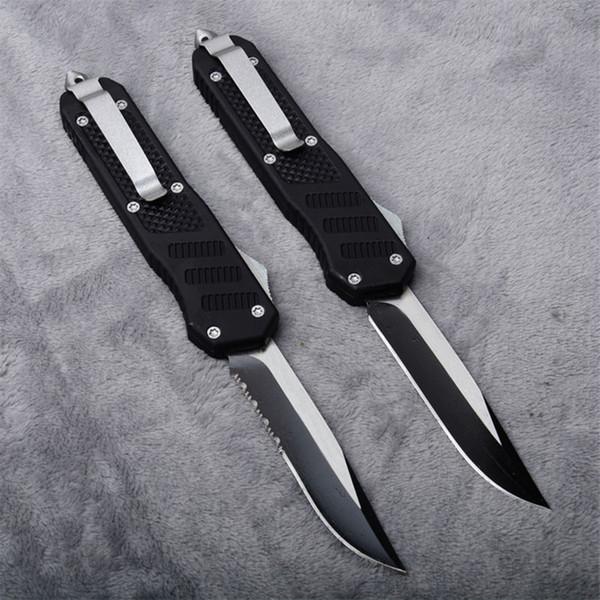 Боевой нож двойного действия, автоматическая точка падения, изящные зубчатые лезвия, 2 стиля, тактические ножи выживания