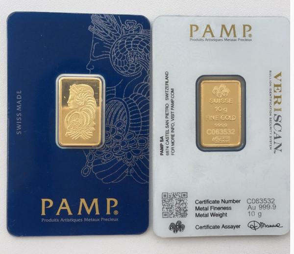 10 Gram PAMP Gold Bar